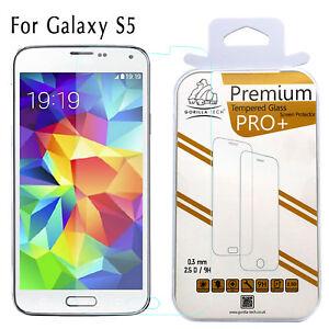 100% Genuine Gorilla Tempered Glass Film Best Screen Protector Samsung Galaxy S5
