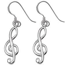 Music Note .925 Sterling Silver Earrings
