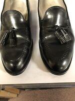 ALDEN 664 Men's Shell Cordovan Black Tassel Loafer Shoes size 10 B/D