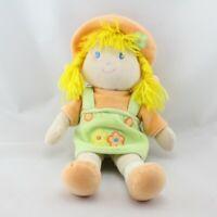 Doudou poupée fille vert orange nattes jaune ANNA CLUB PLUSH - Poupée - Lutin Cl