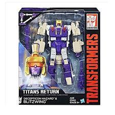Transformers Titans Return Voyager Class DECEPTICON HAZARD & BLITZWING Action
