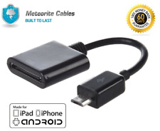 30 Pin Male to Micro USB Female Cable Adapter Converter for iPhone4 to Android B