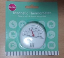 Magnetic Thermometer Place or Sticks it to Almost Any Surface White Great Value