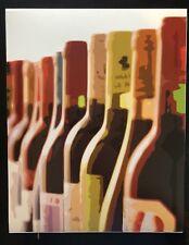 "Wine Bottles Fine Art print 8x10"" Red Yellow Orange Fall Green Bottle Label NEW"