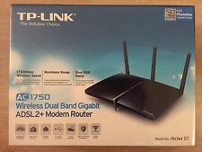 TP-LINK Archer D7 AC1750 Wireless Dual Band Gigabit ADSL2+ Modem Router New