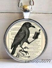 Edgar Allan Poe The Raven Necklace Pendant Gothic Horror Gift Crow Nevermore UK