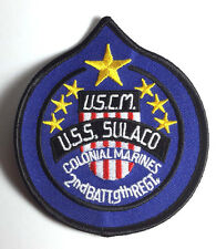 "ALIENS Movie USCM Large Sulaco 3.5""  Uniform Patch-FREE S&H (ALPA-003)"