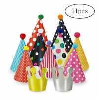 Party Hats For Kids Paper Birthday 11 Pack 9 With 2 Crowns