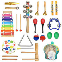 20 Percussion Xylophone Kids Baby Wooden Toddler Musical Instrument Toys Band