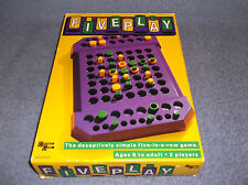FIVEPLAY - THE DECEPTIVELY SIMPLE FIVE IN  A  ROW GAME - UNIVERSITY GAMES MIB