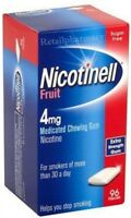 Nicotinell Fruit 4mg Gum Pack of 96 MULTIPLE PACKS 1 2  3  6 12  available