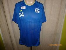 FC Schalke 04 Adidas Spieler Freizeit- Training Trikot 2013/14 + Nr.34 Gr.L