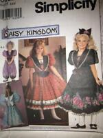 Sewing Pattern 0682 Simplicity Daisy Kingdom Girls Dress & Romper Size 3-5 Uncut