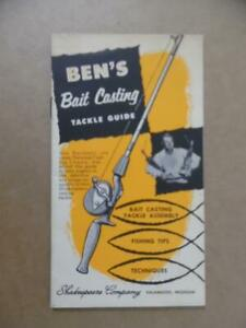 c.1950s Ben's Bait Casting Tackle Guide Shakespeare Fishing Catalog Rods Reels