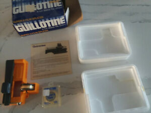 Guillotine Super 8 Film Splicer with Box, Instructions and additional tape