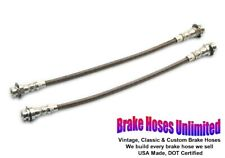Front STAINLESS BRAKE HOSES Chevrolet El Camino 1971 1972 - Front Drum
