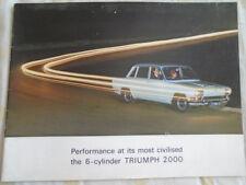 Triumph 2000 brochure Apr 1965