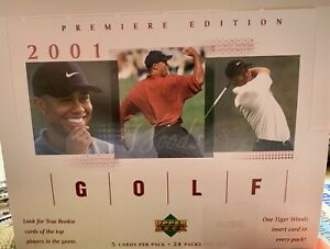 2001 Upper Deck Premiere Edition Golf Box Factory Sealed TIGER WOODS ROOKIE Year