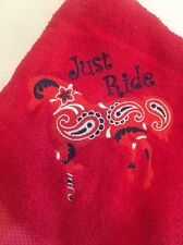 Horse Embroidered Tye Dyed Beach Towel