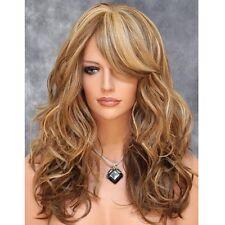 Femmes Filles Mode Brun Perruque Complète Long Bouclé Ondulé Cosplay Cheveux Wig