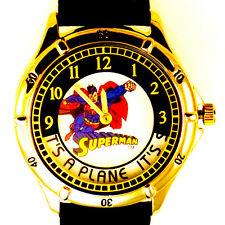 Superman DC Comics Watch, Rotating Disk, Unworn, Extremely Rare Collectible $249