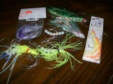 salmon trolling rigs lot of 6 variety colors & styles for big lake lite use