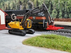 Minuteman Backshop Excavator mounted rotary mower / brushhead (HO Scale)