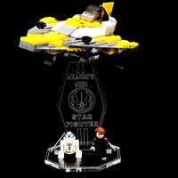 Acryl Display Stand Acrylglas Standfuss für LEGO 7669 Anakin´s Jedi Starfighter