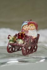 Sleigh Ride Young Children at Christmas Figurine Margaret Haire  New