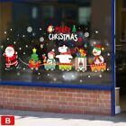 Christmas Wall Stickers Adhesive Window Decals Santa Xmas Festival Home Decor Hg