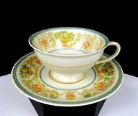 """ROSENTHAL SELB CHINA #R1789 FLOWERS URNS SCROLLS 1.75"""" DEMITASSE CUP AND SAUCER"""