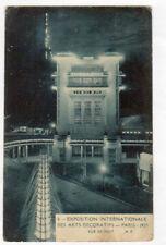 PARIS EXPOSITION DES ARTS DECORATIFS FONTAINE TOUR EIFFEL illuminée CITROEN 1925
