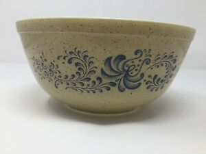 Vintage PYREX 403 Homestead Blue and Brown Pattern 2.5