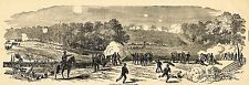 Harpers Civil War 1862  JACKSON AT WHITE OAK CREEK  Antique Newspaper Page