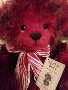 "Artist Bear, "" Berry"" 16 inches 2013 by Martha Burch"