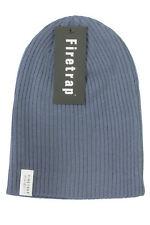 Mens Beanie Hat by Firetrap - Ribbed (Dusky Blue, )