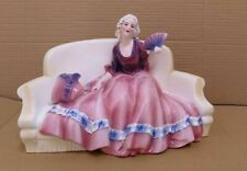 "Katzhutte figurine 266 ""Lady Sitted on Sofa"" Hertwig & Co German Porcelain"