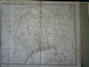 GRANDE GRAVURE XVIII° EMPIRE RUSSE RUSSIE RUSSIA MONT OURAL VOLGA ORENBOURG 1787