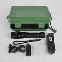 5000lm CREE XM-L T6 Zoomable 18650 LED Flashlight Torch Mount+Charger+Box Set