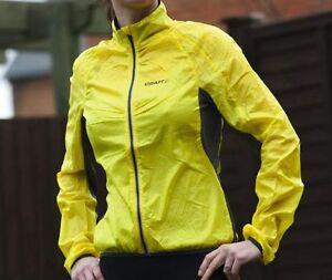 New Women's Craft Performance Light Jacket Size Large Yellow/Iron