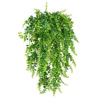 2pcs Artificial Plant Vine Ferns Persian Rattan Fake Plant Hanging Baskets Decor