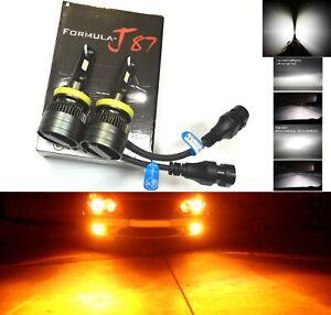 LED Kit G8 100W H11 Amber Two Bulbs Fog Light Replacement Plug Play Stock Lamp