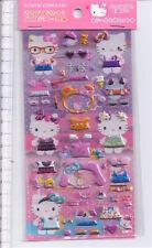 HELLO KITTY 2011 Sanrio Japan paper doll dress stickers - bamboline adesive