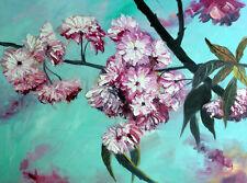 "Original Oil Painting  Cherry Blossom One of a Kind  18x24"" Julia Lu"