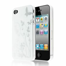 HIGH GLOSS FOLIAGE FLOWER DESIGN PLASTIC CASE BACK COVER FOR  IPHONE 4 4S