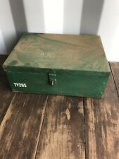 Vintage Small Steel Factory Box, Tote Box, Parts Box, Vintage Retro Storage