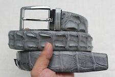 "W 1.5 "" Unjointed - Gray Genuine Alligator ,Crocodile Belt Skin Leather Men's"