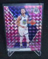 2020 Panini Mosaic Basketball Stephen Curry Pink Camo Mosaic Prizm Warriors