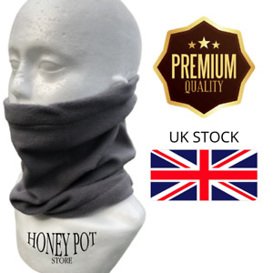 Unisex Thermal Neck Warmer Snood Winter Scarf Cowl Tube Fleece Ski Motorcycle