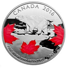 $25 - Fine Silver Coin – True North (2016)